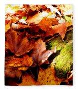 Autumn In The Forest Fleece Blanket
