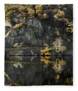 Autumn In The Lake Fleece Blanket