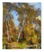 Autumn In The Marshes Fleece Blanket