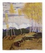 Autumn In The Mountains Fleece Blanket
