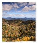 Autumn In The Blue Ridge Mountains Fleece Blanket