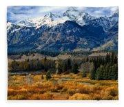 Autumn In The Tetons Fleece Blanket