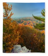 Autumn In The Valley Fleece Blanket