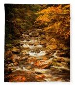 Autumn In Vermont Fleece Blanket
