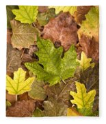 autumn is coming 5 - A carpet of autumn color leaves  Fleece Blanket
