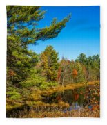 Autumn Lake 4 Fleece Blanket