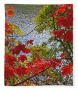 Autumn Lake Fleece Blanket