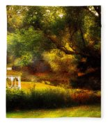 Autumn - Landscape - Past And Present Fleece Blanket