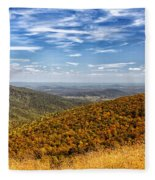 Autumn Layers Fleece Blanket