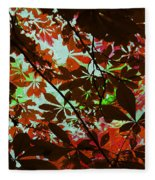 Autumn Leaf Abstract Fleece Blanket