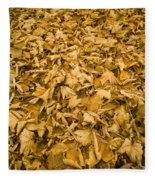 Autumn Leaf Background Fleece Blanket