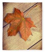 Autumn Leaf Fleece Blanket by Amanda Elwell