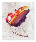 Autumn Leaf On Fire Fleece Blanket