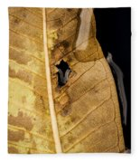Autumn Leaf Fleece Blanket