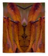 Autumn Leaves 03 Mirror Image Fleece Blanket