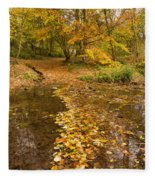 Autumn Leaves In Burn Vertical Fleece Blanket