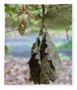 Autumn Leaves In Summer Fleece Blanket