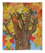 Autumn Leaves 1 Fleece Blanket