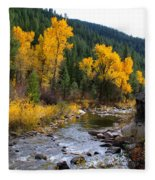Autumn Leaves Of Red And Gold Fleece Blanket