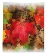 Autumn Leaves Photo Art 04 Fleece Blanket