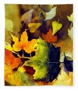 Autumn Leaves Fleece Blanket