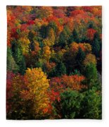Autumn Leaves Vermont Usa Fleece Blanket