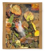 Autumn Leavings Fleece Blanket