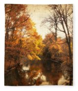 Autumn Lingers Fleece Blanket