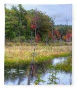 Autumn Marsh Fleece Blanket