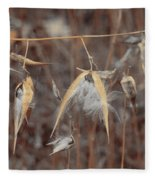 Autumn Milkweed Fleece Blanket