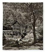 Autumn Mill 2 Sepia Fleece Blanket