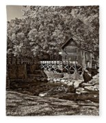 Autumn Mill Sepia Fleece Blanket