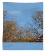 Autumn Moonrise Fleece Blanket