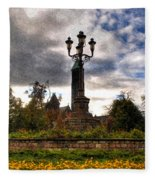 Autumn Morning At Symphony Circle V2 Fleece Blanket