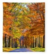 Autumn Morning Fleece Blanket