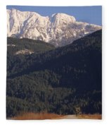 Autumn Snowcapped Mountain - Golden Ears - British Columbia Fleece Blanket