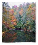 Autumn Mountain Stream Fleece Blanket