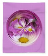 Autumn Mum Orb Abstract Fleece Blanket