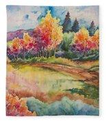 Autumn Near Taos Fleece Blanket