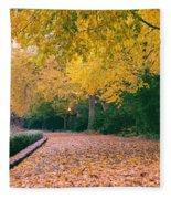 Autumn - New York City - Fort Tryon Park Fleece Blanket