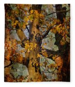 Autumn Oaks In Dance Mode Fleece Blanket