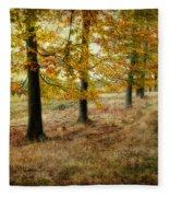 Autumn On Cannock Chase Fleece Blanket