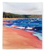 Autumn On Lake Superior Fleece Blanket