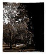 Autumn On Maple Road Fleece Blanket