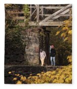 Autumn On The C And O Canal Fleece Blanket