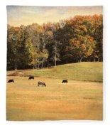 Autumn On The Farm Fleece Blanket