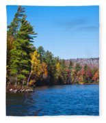 Autumn On The Fulton Chain Of Lakes In The Adirondacks IIi Fleece Blanket