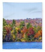 Autumn On The Fulton Chain Of Lakes In The Adirondacks Iv Fleece Blanket