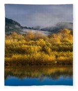 Autumn On The Klamath 1 Fleece Blanket