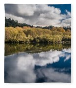 Autumn On The Klamath 11 Fleece Blanket
